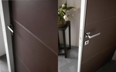 Двери в коже